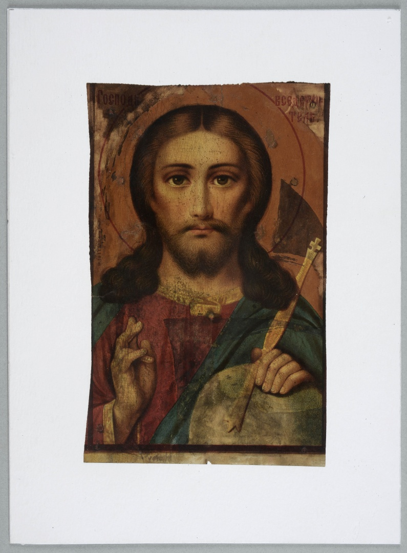 fig 10. After gluing the icon on a new base the damages in the paper were toned with watercolour and the picture was coated with varnish that gave it a pleasant matt shade. The icon seemed too be much more 'really painted'.
