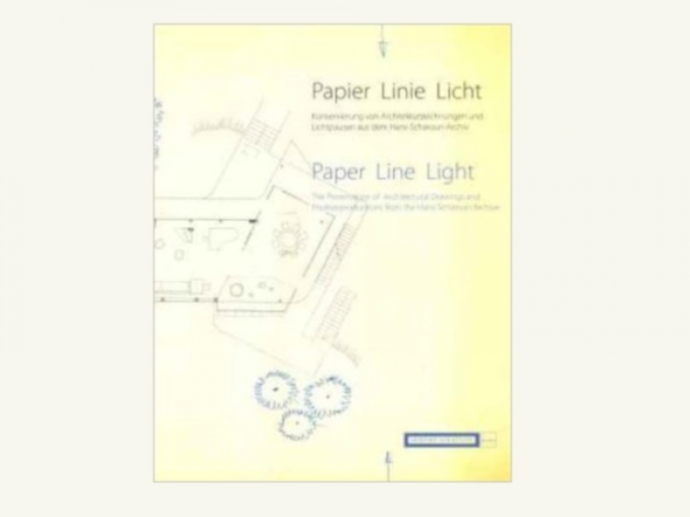 fig 11. Glück, I. Brückle, E.-M. Barkhofen (2012). Paper-Line-Light.The Preservation of Architectural Drawings and Photoreproductions from the Hans Scharoun Archive. Berlin.  Germany: Akademie der Künste.