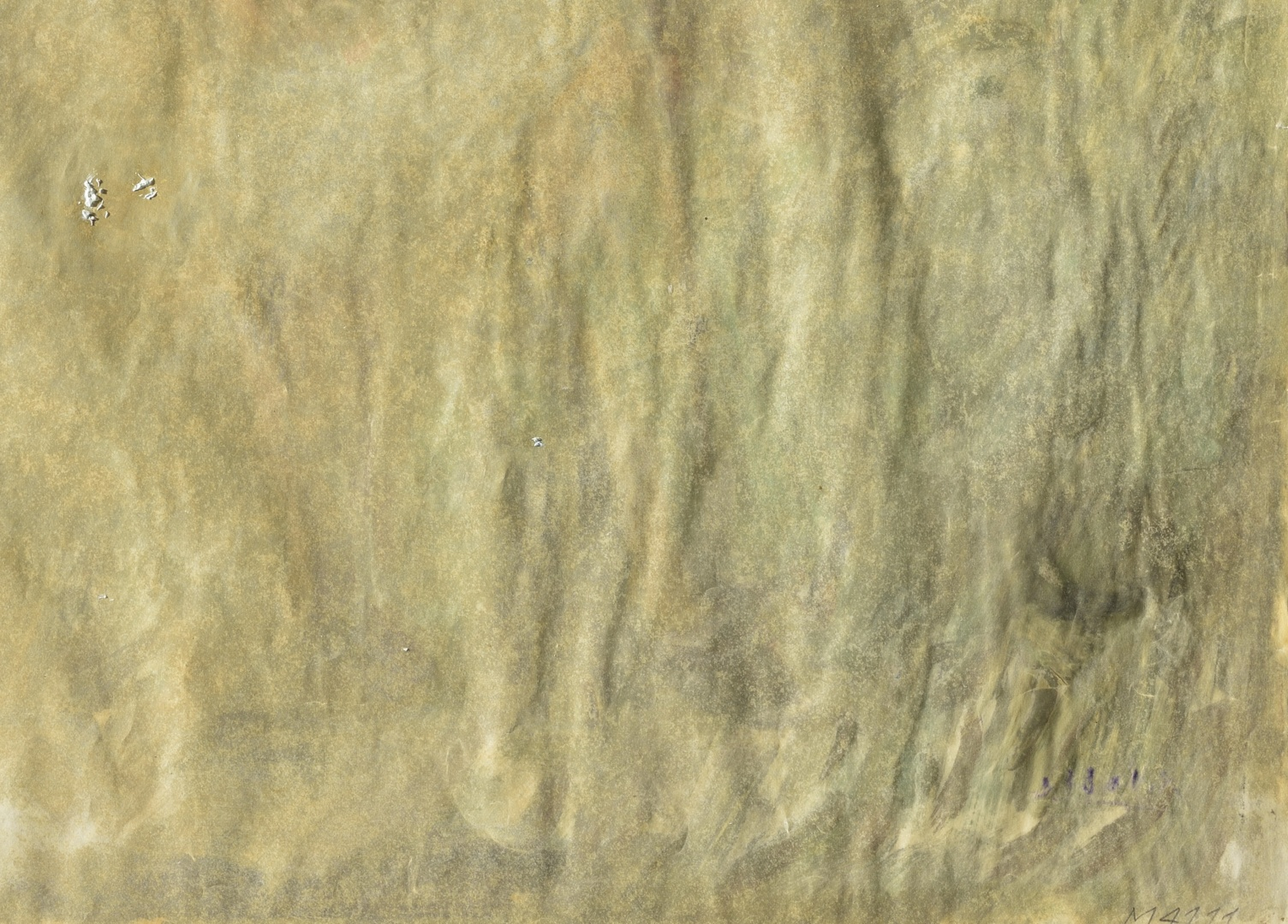 fig 14. Detail photo. The verso side deformed. A.Vabbe Woman in landscape.  EKM M 4111.