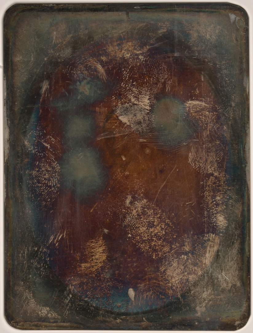 ill 12. Daguerreotype (107 x 81 mm) without its original formation, oxidised, soiled and covered with fingerprints. Photo collection of the Tallinn City Museum's Photo Museum, TLM F 9701.