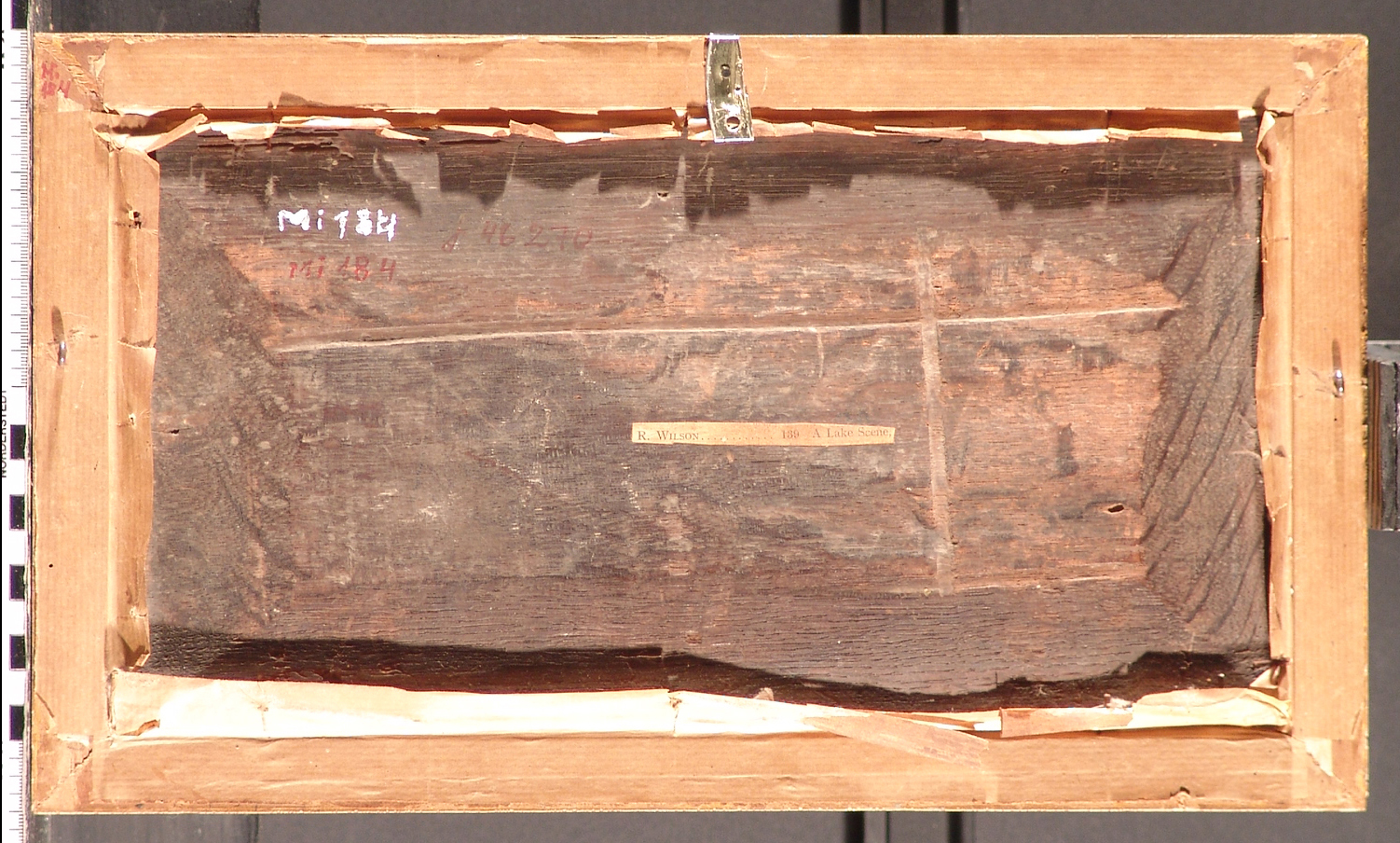 ill 22. Reverse side of a painting before forming (painting 17th.c. Mi184).