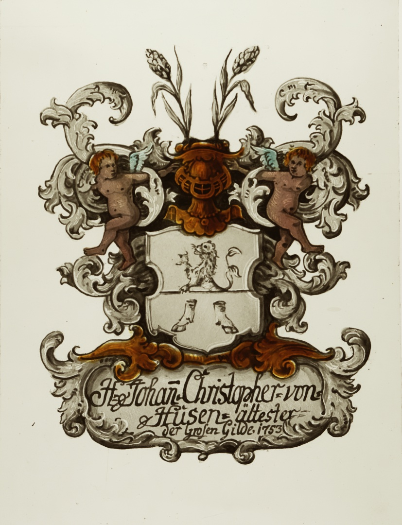 ill 26. Copy of Johan Christopher von Husen's coat of arms painting (1753).