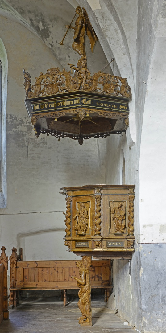 ill 26. The pulpit of the Haljala Church after conservation in September 2015.