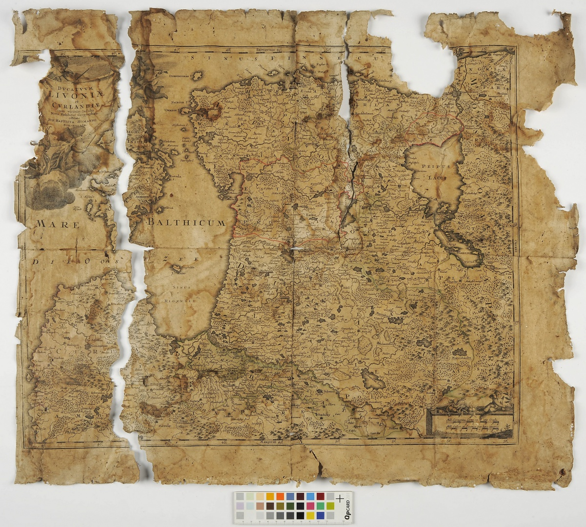 ill 4. Before conservation. A map of Old Livonia.