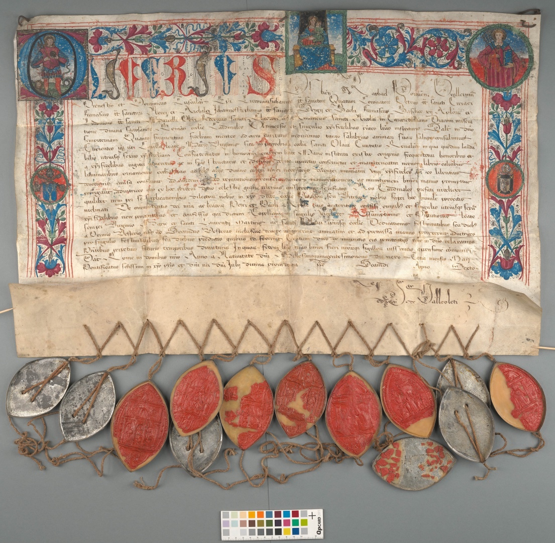 fig 8. Document of the Tallinn Magistrature from 1509, TLA.230.1-i.918/a.