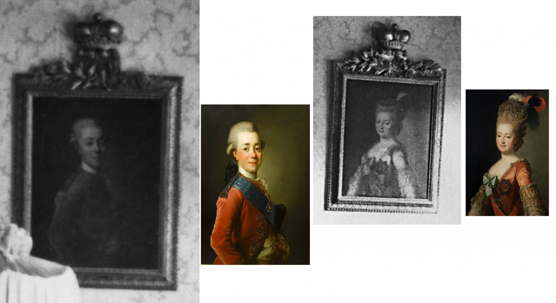 ill 35. The portraits of Emperor Paul I and Empress Maria Fyodorovna were painted after A. Roslin's work.