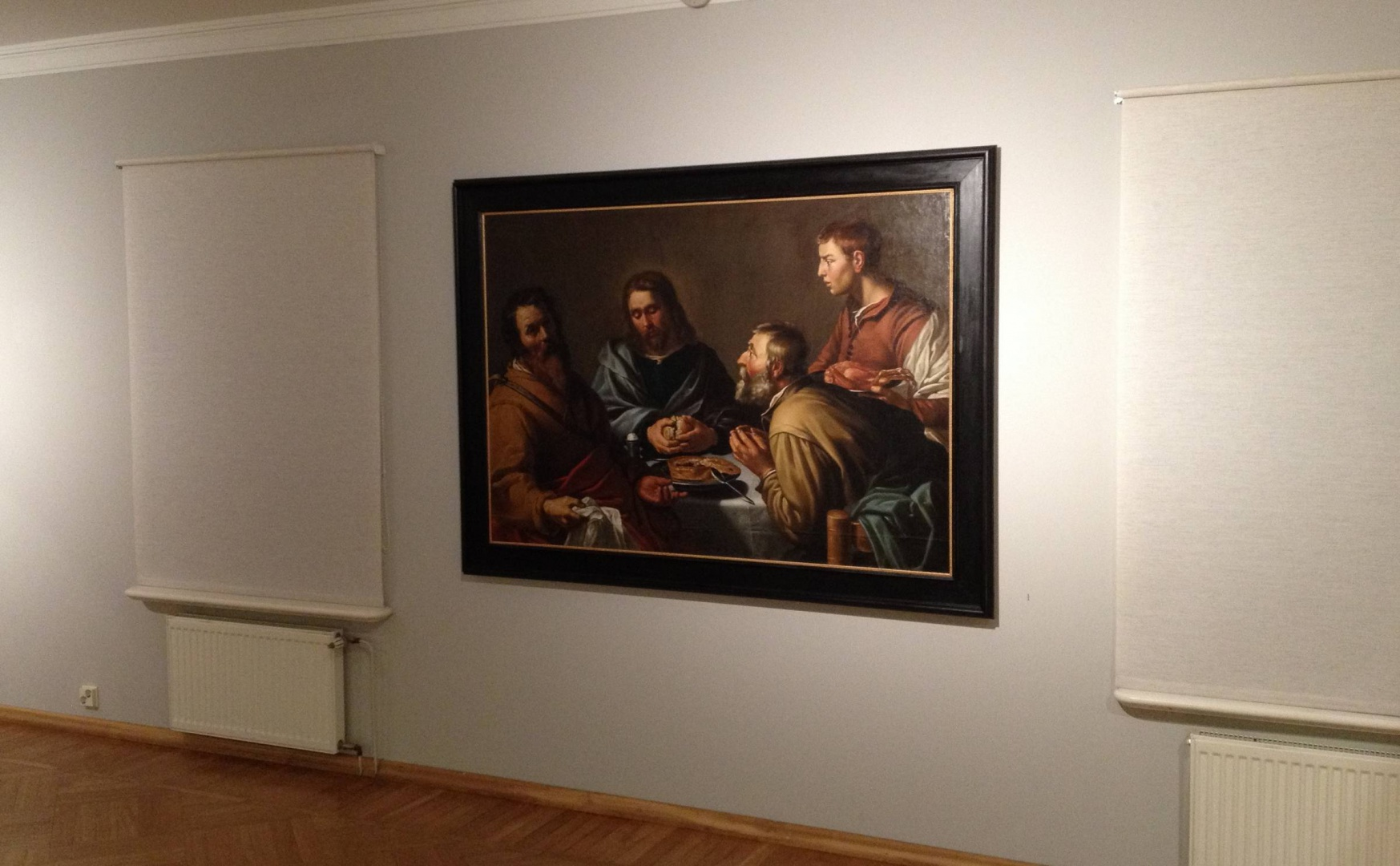 ill 5. Supper in Emmaus EKM Mi179 displayed at the Mikkel Museum. Legend – 1997 donated by Johannes Mikkel, comes from Uue-Suislepa Manor, conserved in 2007-2010 by Maris Klaas. (EKM). Photo – V. Vissel.