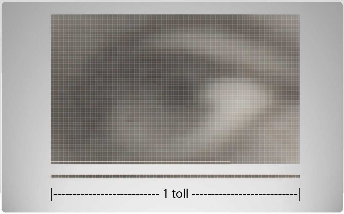 ill 4. Resolution. 72 pixels per inch or the resolution of the image is 72 dpi (dot per inch).