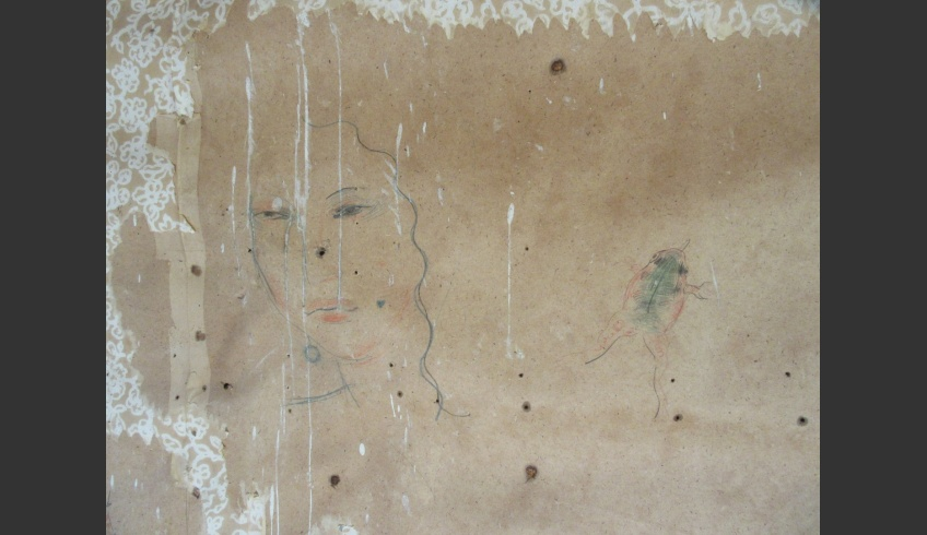ill 15. Four separate drawings were discovered. The photo shows two of them – portrait of a woman and a frog. Photo: Kristiina Ribelus