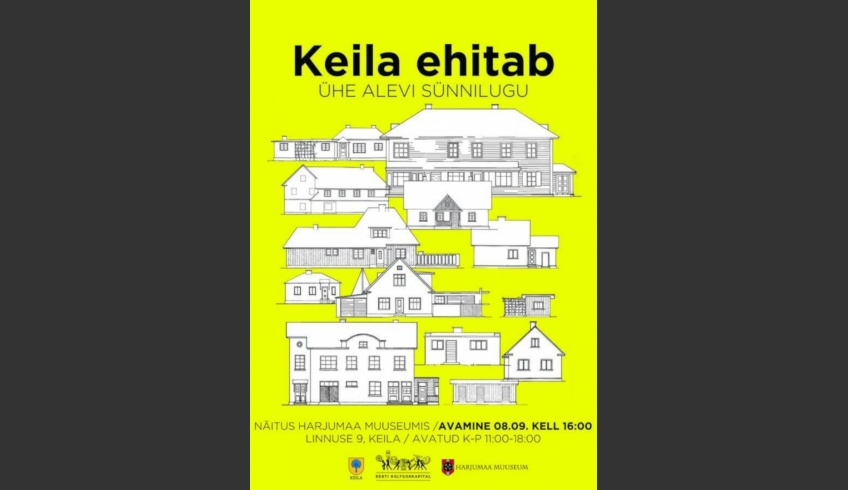 fig 3. The opening of the exhibition – Keila is building. The birth of a township – at the Harju County Museum. The collection of Keila house-plans built in the 1920s up to the 1940s. The collection has been made up of drawings and copies in various techniques.