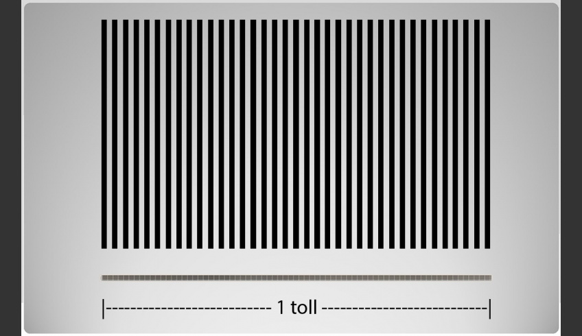 ill 5. Resolution. 36 lines per inch (36 lpi), the corresponding 72 dpi below.